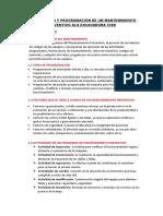 Planificación y Programación de Un Mantenimiento Preventivo Ala Excavadora 320d