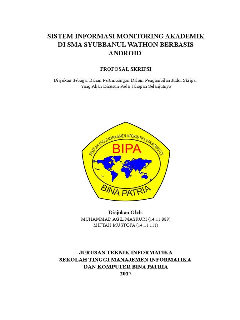 Proposal Skripsi Pembuatan Sistem Monitoring Sekolah Copy Paste Web