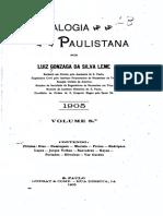 08 Genealogia Paulistana Tomo VIII  - Luiz Gonzaga da Silva Leme (1904)