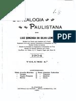 04 Genealogia Paulistana Tomo IV - Luiz Gonzaga da Silva Leme (1904)
