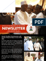 Office of the Senate President Newsletter. Week of Monday, October 30th to Friday, November 3rd