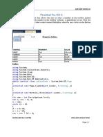 ASP.net Practicals