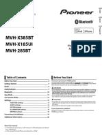 Mvh-285bt Operating Manual Ing - Esp - Por