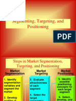 Segmentation targeting positioning (STP)