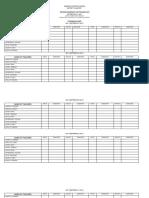Attendance Sheet for Inset 2017