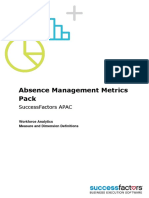 Absence Management Metrics Pack APAC