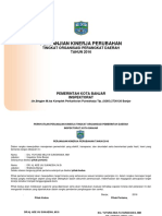 Perjanjian Kinerja Inspektorat Tahun 2016 - Perubahan