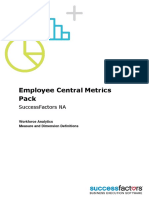 Employee Central Metrics Pack NA