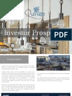 Investor Prospectus Quinate