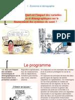 Thème 122 - Quel est l'impact des variables économiques et démographiques sur le financement des systèmes de santé.ppt