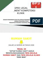 a1. Aspek Legal Assessment Kompetensi Klinik