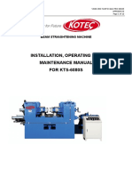Operating Manual for KTS-6080S (Unitech)