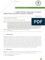 Domestic Violence Against Women Using Induced Linked Bidirectional Associative Memories (ILBAM)