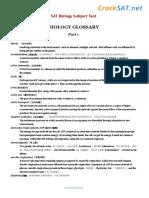 SAT Subject Biology Glossary