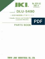 Partslist Juki DLU-5490