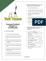 Present Perfect Simple vs Continuous