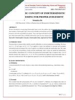 NEUTROSOPHIC CONCEPT OF INDETERMINISTIC DATA PROCESSING FOR PROPER JUDGEMENT