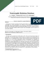 Neutrosophic Relations Database
