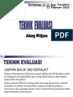 Teknik Evaluasi (12) 11 Feb 2012