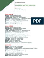 Calendar Al Culegerii Plantelor Medicinale