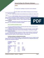 Chap 3 La Classification Periodique Des Elements Chimqiues