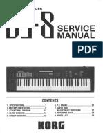 Korg DS8 FM Synthesizer service manual