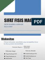 Sifat Fisis Magma