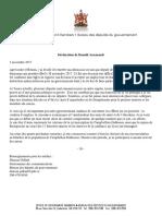 Déclaration de Donald Arseneault