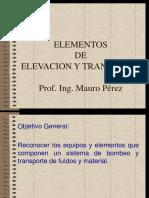 Elementos Elevacion y Transporte Unidad I