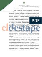 Orden de detención a Amado Boudou