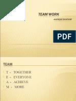 Teamwork....