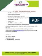 Weser Services Brochure