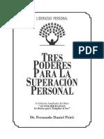 Libro Tres Poderes Superacion Personal - Fernando Daniel Peiro