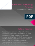 The Teacher and Teaching Process