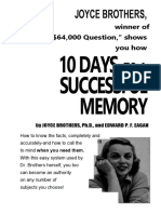 10 Days to a Successful Memory Joyce D. Brothers