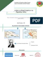 Ensino Jurídico No Brasil Império e Na República