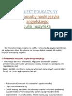 Projekt Edukacyjny Julia Tuszyńska