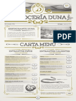 Carta Arroceria Duna