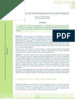 El Control de Racionalidad en El Gasto Público Begoña Pérez Prof Univ Alic