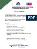 Información Curso Evaluación Motriz