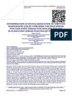 DETERMINATION OF SPATIAL RESOLUTION IN COMPUTED RADIOGRAPHY (CR) BY COMPARING THE EDGE SPREAD FUNCTION-POINT SPREAD FUNCTION (ESF-PSF) AND IN-PLANE POINT SPREAD FUNCTION (IP-PSF) METHODS