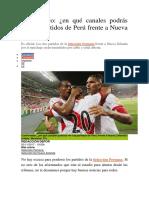 Peru y Nueva Zelanda