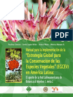 Manual Para La Implenentación de La -Estrategia Global Para La Conservación de Especies Vegetales