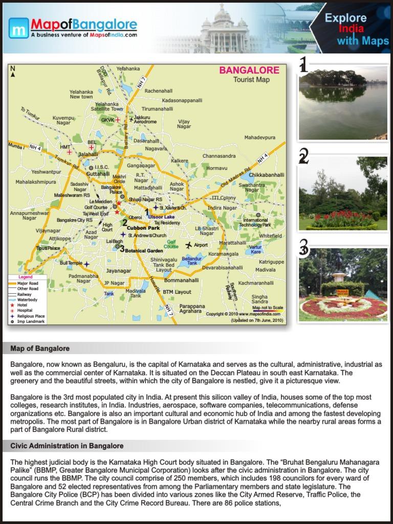 Pdf bangalore map city full