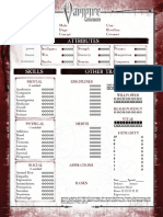 Vampire the Requiem 2nd Edition Interactive Character Sheet by Mr.Gone (2-page)
