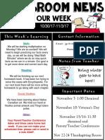 weekly newsletter  powerpoint  oct 30