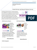 National Intimate Partner and Sexual Violence Survey (NISVS)|Funded Programs|Violence Prevention|Injury Center|CDC