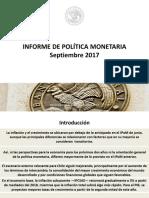 Informe Politica Monetaria Chile 07092017