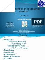 Investigations of Holographic Diffuser