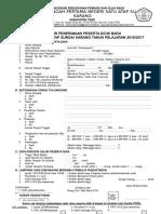 Contoh Formulir PSB SMP Tahun 2016. Dadang JSN.doc